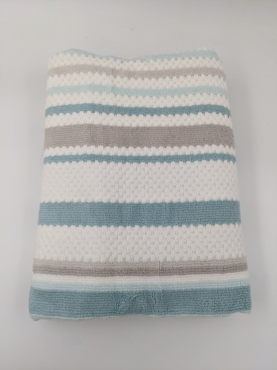 Hooded Towel - Seafoam Stripes
