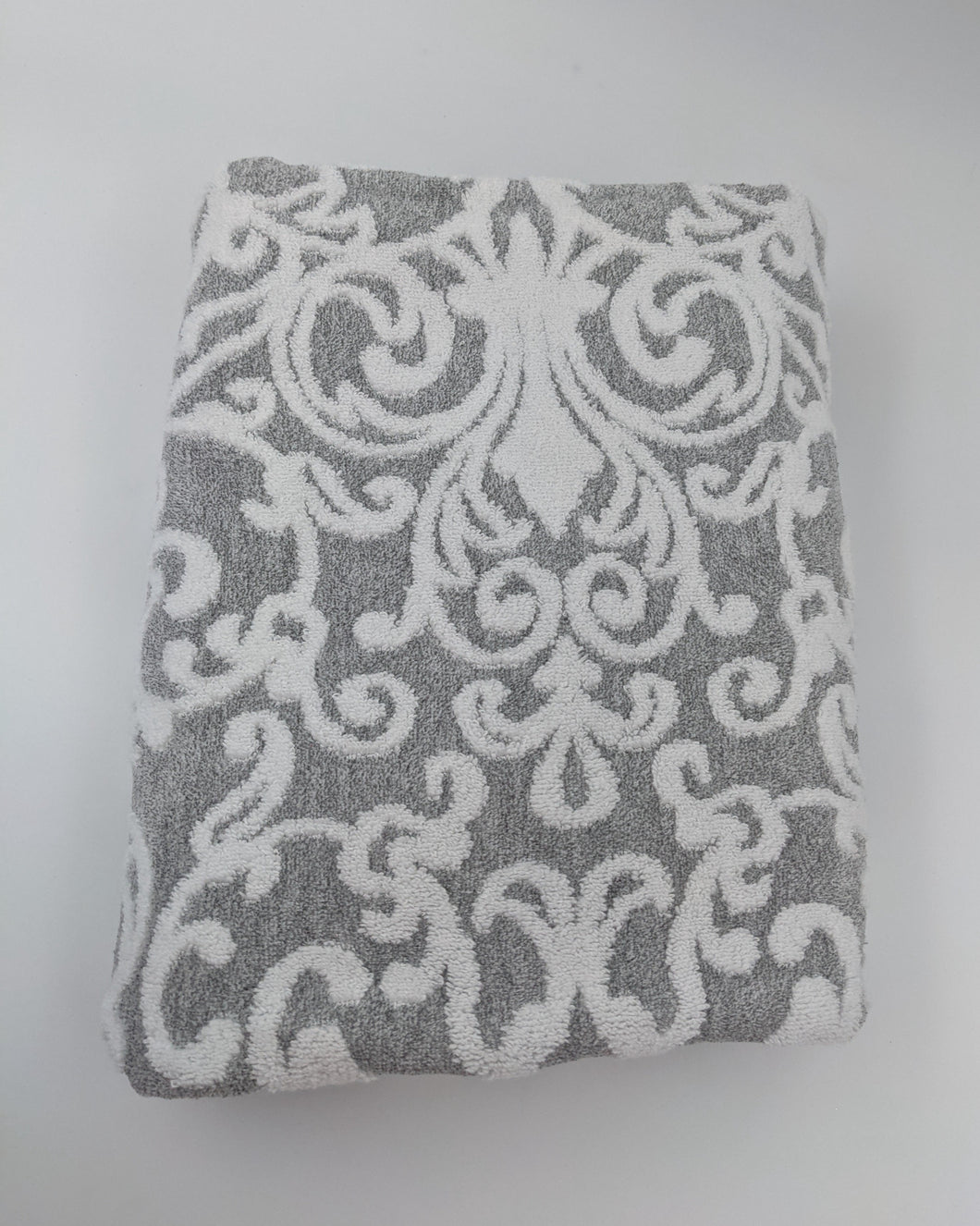 Hooded Towel - Textured Grey Damask