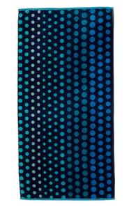 Hooded Towel - Blue Dots