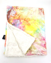 Load image into Gallery viewer, Minky Tie Dye Blanket