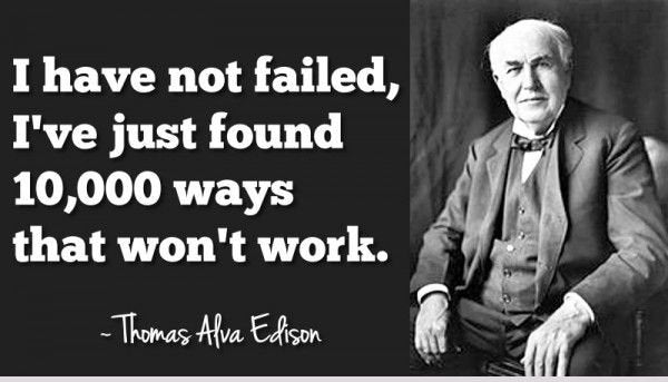 Thomas Edison famous quote cottonheartdesign
