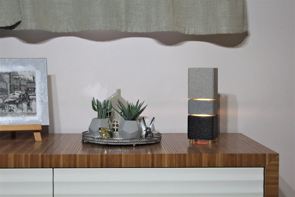concrete lamp nightstand lamp