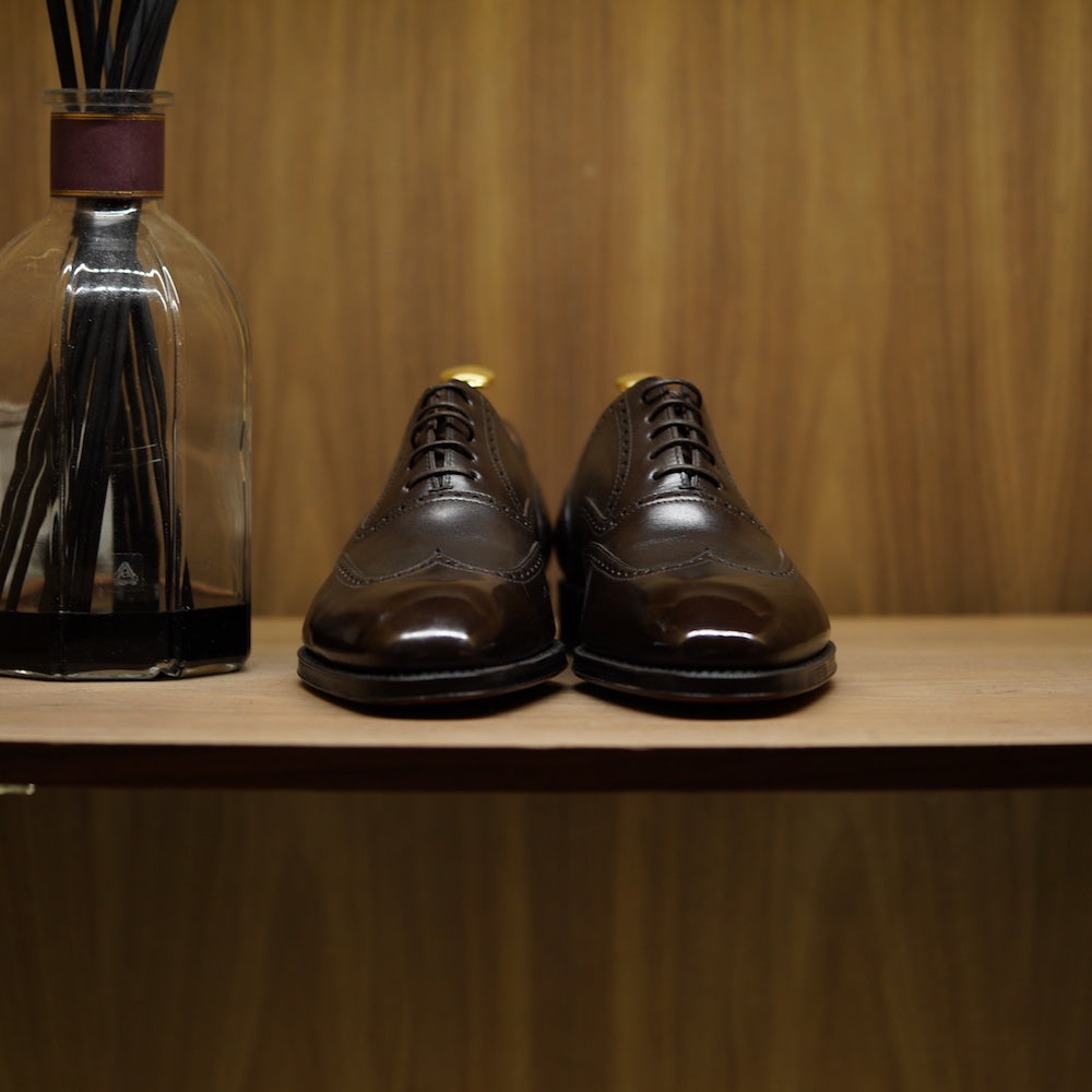SPECIAL - Yanko Wingtip Oxford Dark Brown Box Calf