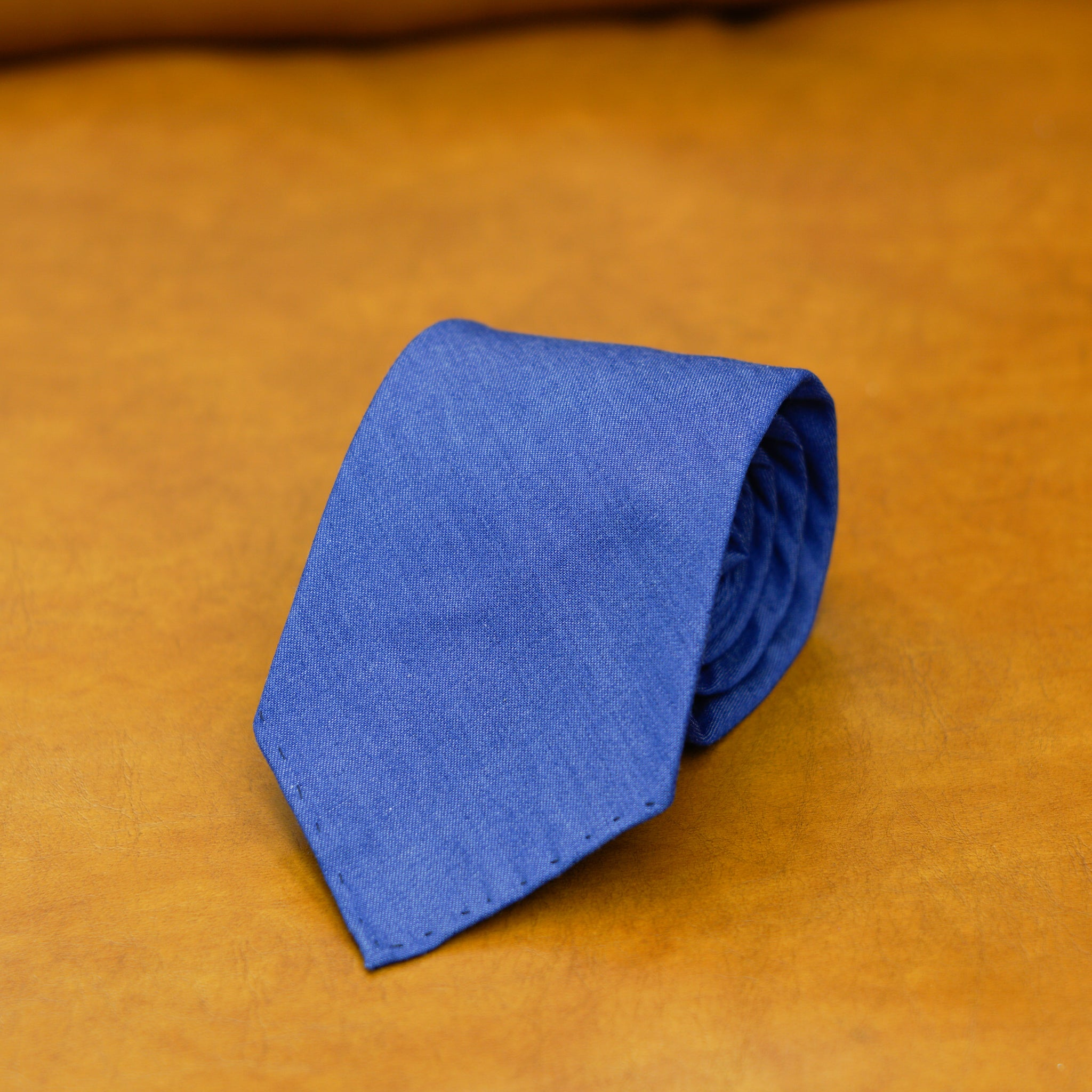 Mementomori Royal Blue Linen Tie