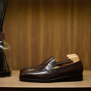 Yanko Penny Loafer Brown Museum Calf