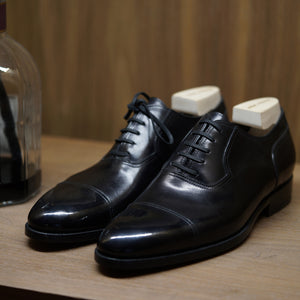 Zonkey Boot Captoe Oxford in Black Bavarian Crust Calf