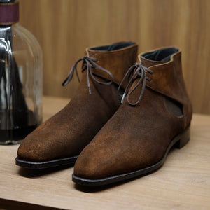 SPECIAL - Norman Vilalta Decon Chelsea in Brown-Cognac Patina Suede
