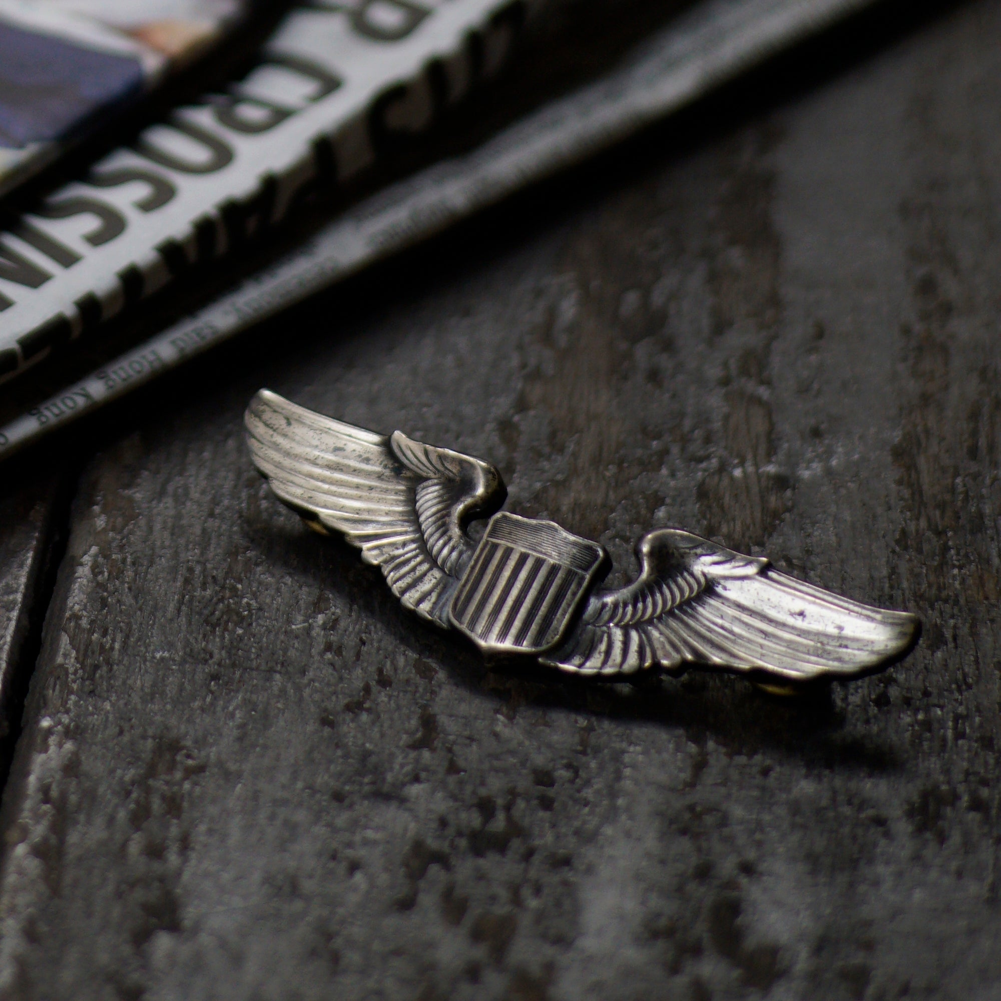 SPECIAL - Red Rabbit Vintage Silver Wings Lapel Pin (RRP02)