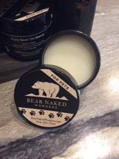 Bear Naked Wonders, pet salve, bear oil, bear grease, bear fat, pure bear grease, pure bear oil