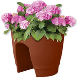 Almi railing and deck planter - wall mount flower planter - Shopper45store