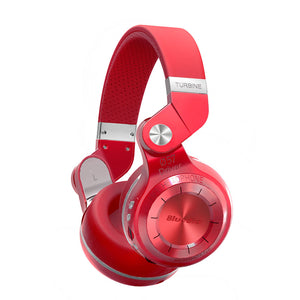 Bluedio T2+ foldable over the ear bluetooth headphones BT 4.1 support FM radio & SD card - Happysale24