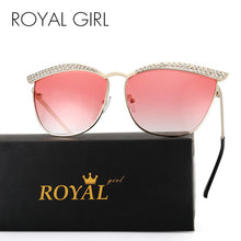 ROYAL GIRL Cat Eye Sunglasses Women Crystal Diamond Luxury Sun Glasses Women Eyewear Vintage Design - Happysale24