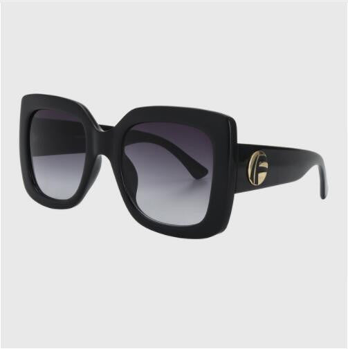 ROYAL GIRL Vintage Oversized Sunglasses Women Brand Designer Square Acetate Frame Shades - Happysale24