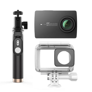 "YI 4K Action Camera Bundle With Waterproof case and Selife Stick 2.19"" LCD Tough Screen Wifi International Version Sports Camera - Happysale24"