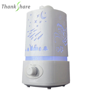 1500ml Ultrasonic Air Humidifier for Home Essential Oil Diffuser Humidificador Mist Maker 7Color LED Aroma Diffusor Aromatherapy - Happysale24