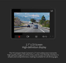 YI Compact Dash Camera 1080p Full HD Car with 2.7 inch LCD Screen 130 WDR G-Sensor Night Vision - Happysale24