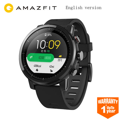 Xiaomi Huami Amazfit Stratos Smart Sports Watch 2 GPS 5ATM Water 1.34'' 2.5D Screen GPS Firstbeat Swimming Smartwatch - Happysale24