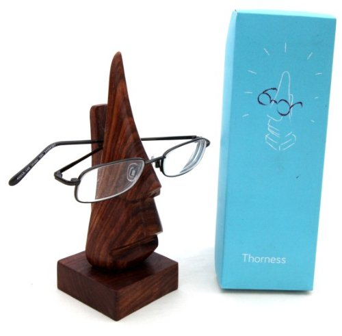 Nose shaped wooden spectacle holder - The Well Chosen