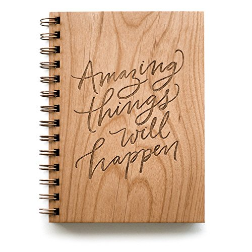 Amazing Things Will Happen Laser Cut Wood Notebook - The Well Chosen