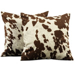 Decor Cow Hide Print 18 Inch Throw Pillow by iNSPIRE Q Bold (set of 2) - The Well Chosen
