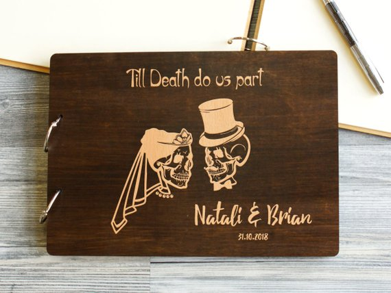 Halloween Wedding Guestbook - The Well Chosen