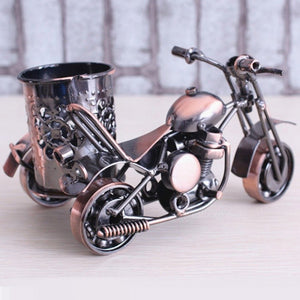 Wrought Iron Motorcycle Model Pen Holder - The Well Chosen