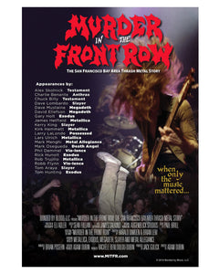 "Murder in the Front Row Documentary Poster – 26.5"" x 39"" – San Francisco Bay Area Thrash Metal Story"