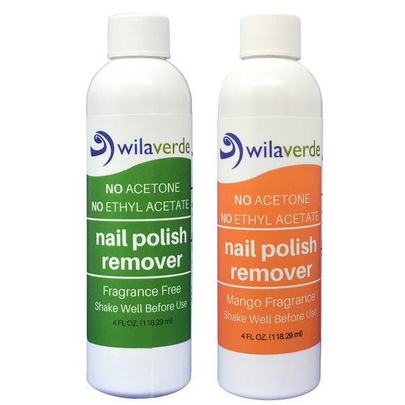 100% Biodegradable Nail Polish Remover by Wilaverde (2-PACK SPECIALS!)
