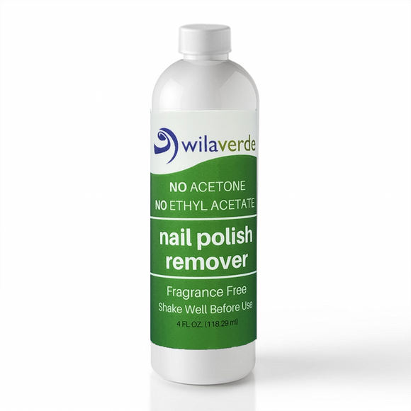 Wilaverde Nail Polish Remover 4 0z Bottle - 100% Biodegradable