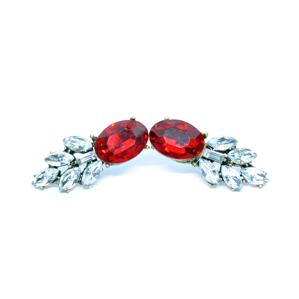Earrings Asil Red