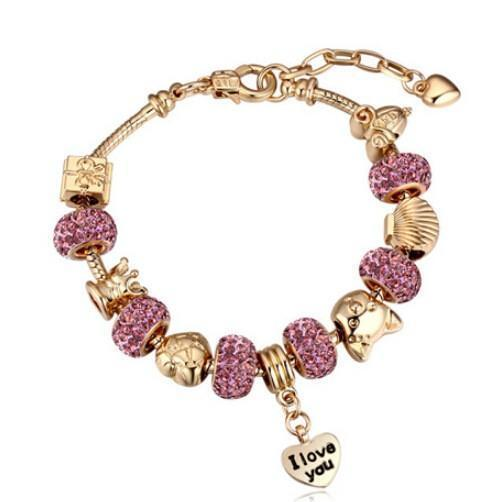 Bracelet Charms Purple-Costume Jewellery