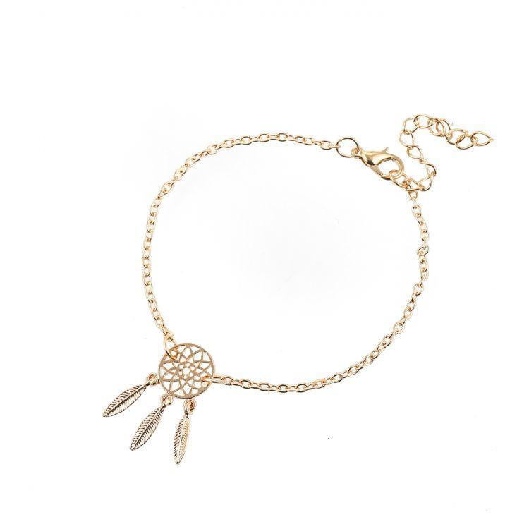 Bracelet Dreamcatcher Gold-Costume Jewellery