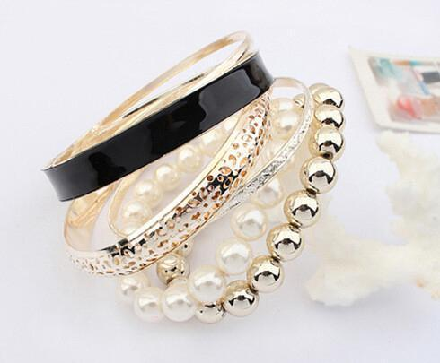 Bracelet Kiara Black-Costume Jewellery