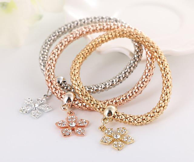 Bracelet Snowflake Set-Costume Jewellery