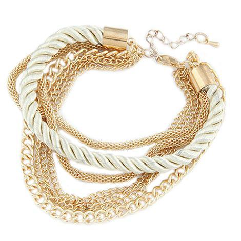 Bracelet Twist White-Costume Jewellery