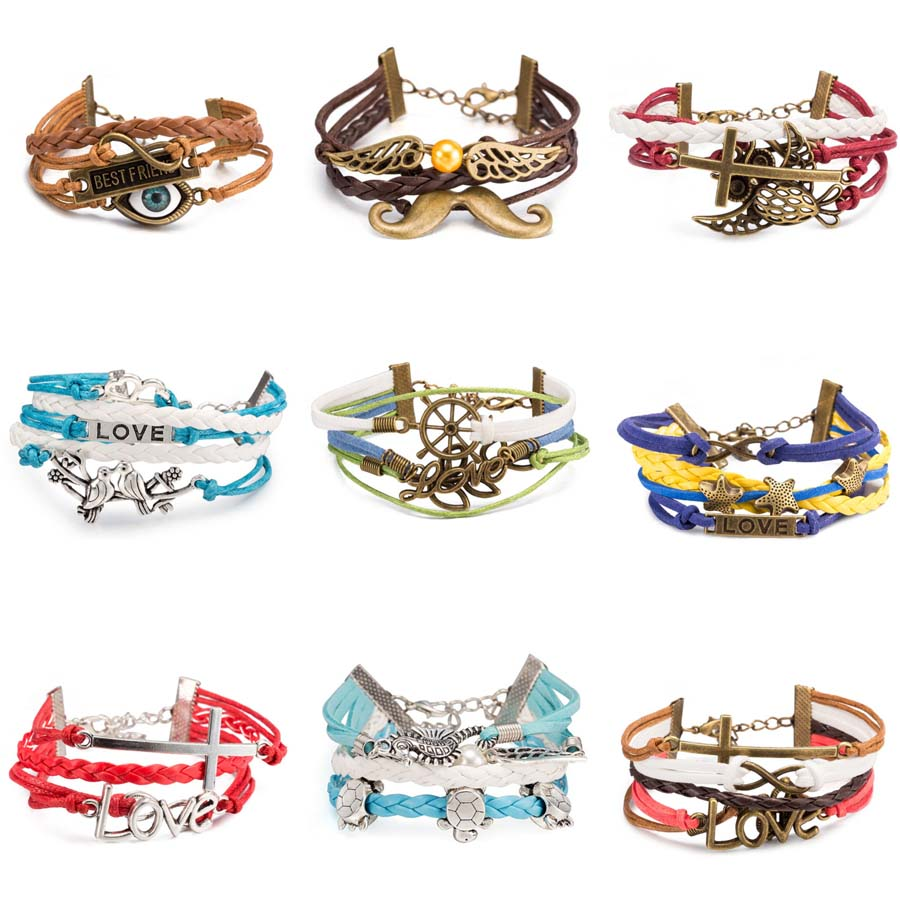 Bracelets Leather Set