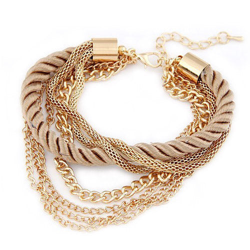 Bracelet Twist Light Caramel-Costume Jewellery
