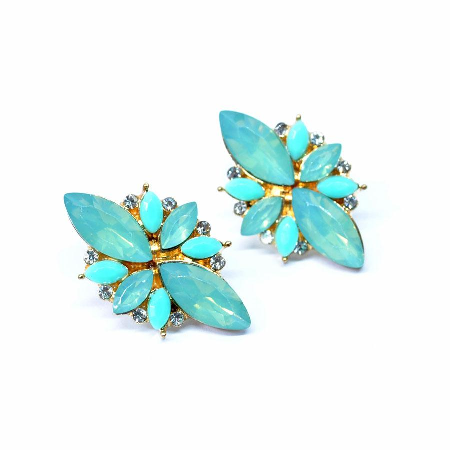 Earrings Adsila Blue-The Golden Box-Costume Jewellery