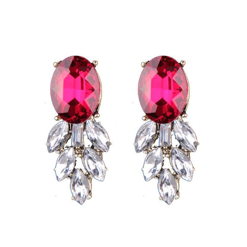 Earrings Asil Red-Costume Jewellery