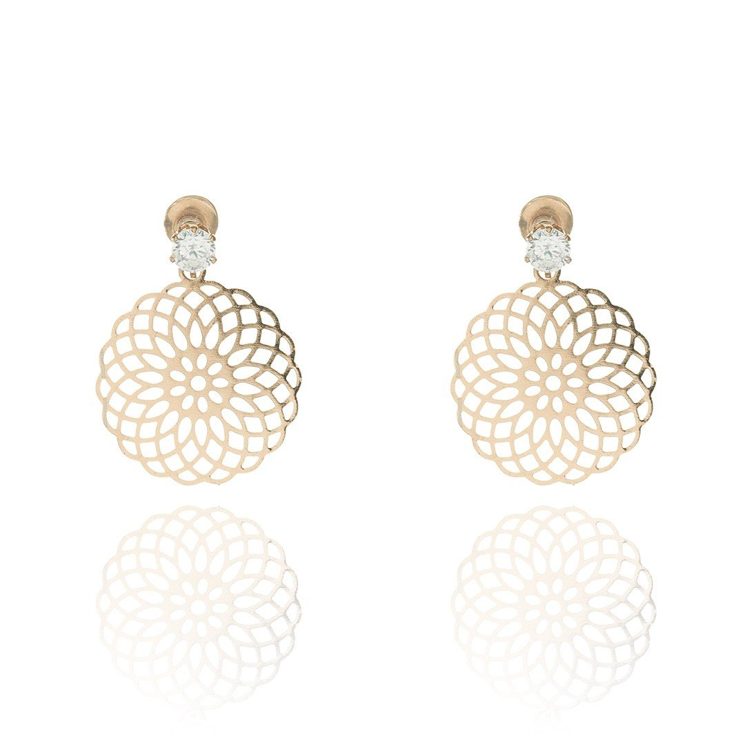 Earrings Chave Gold - Costume Jewellery