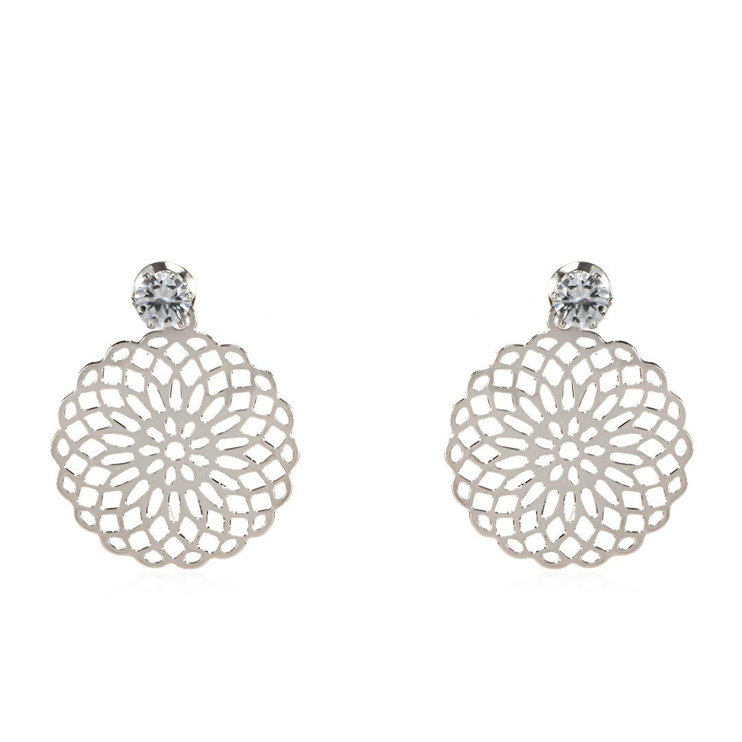Earrings Chave Silver - Costume Jewellery