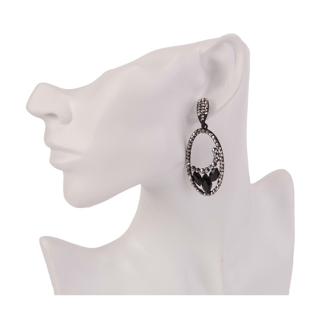 Earrings Esther Black - Costume Jewellery
