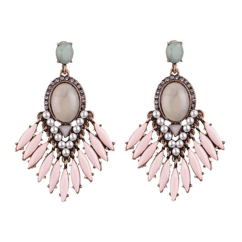 Earrings Iria Pink-Costume Jewellery