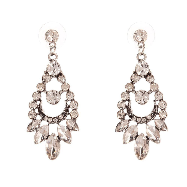 Earrings Marifer Silver Diamonds