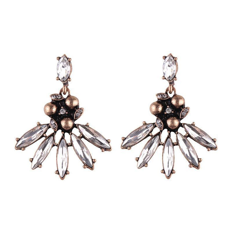 Earrings Teska Silver Black