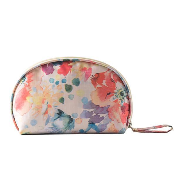 Makeup Bag Flower White