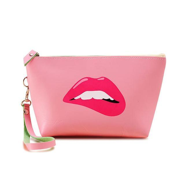 Makeup Bag Lips Pink