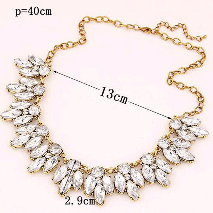 Necklace Aliya Diamonds Silver-Costume Jewellery