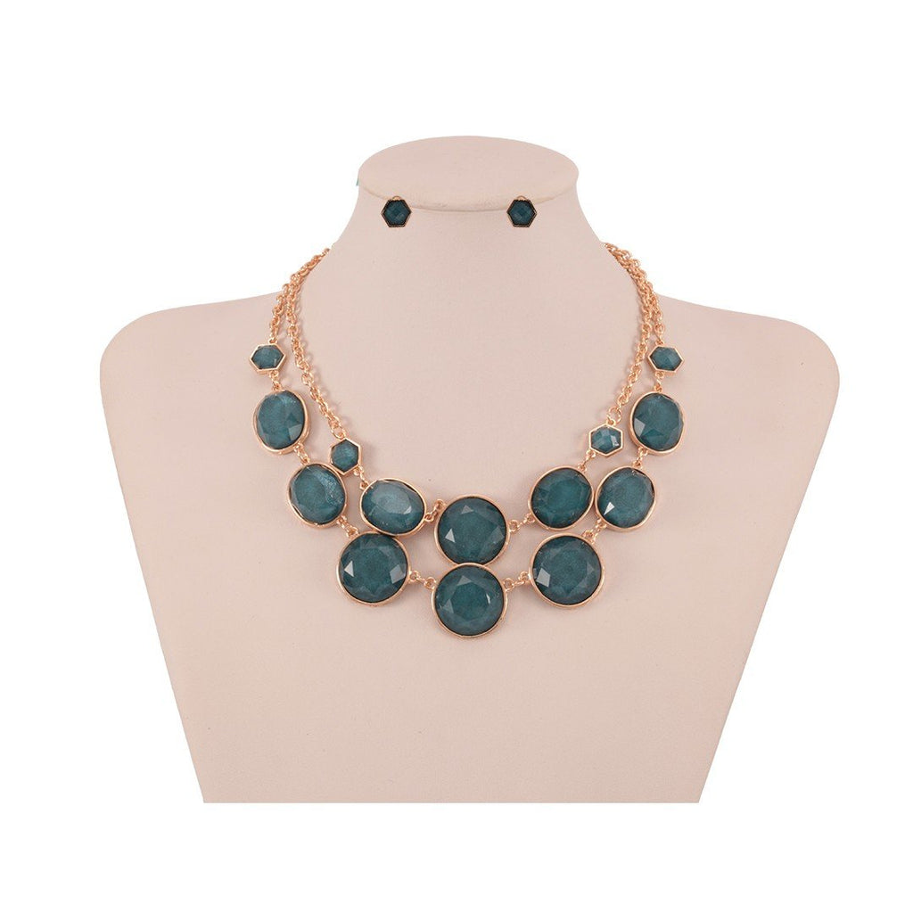 Necklace Azure + Earrings - Costume Jewellery