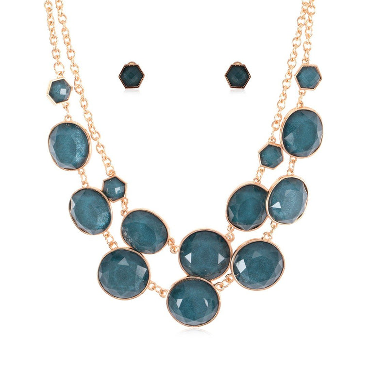 Necklace Azure + Earrings